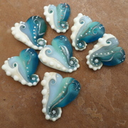 Beach Heart Amulet Beads