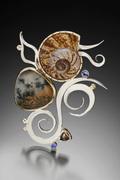 rainforest snail swimmer necklace