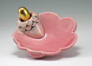 Candy Dish with Golden Spoon