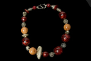 Necklace with Silver and Vintage Beads