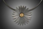 Lotus Pendant with Citrine