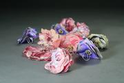 fabric flower rings