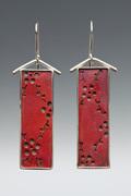 Red Flowers and Vines Earrings