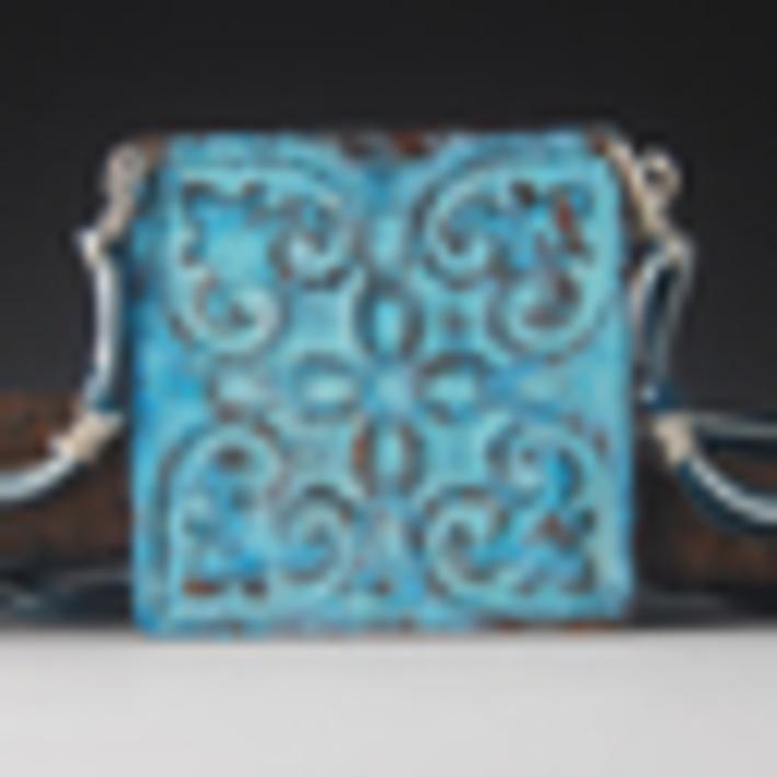tin tile blue b