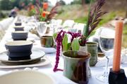Dinner in the Vineyard Table Setting
