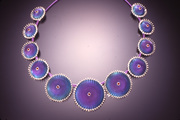 Circular Necklace - niobium - microchasing