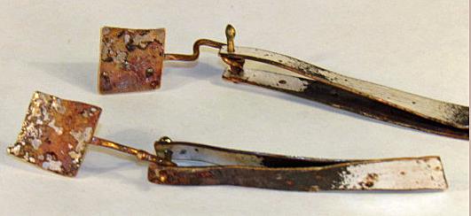 long dangle earrings two part