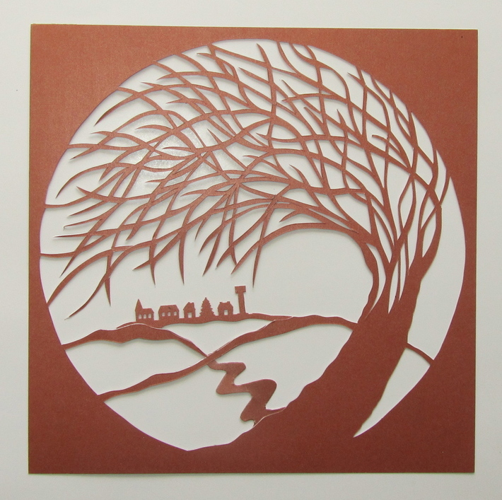 Tree of Life Silhouette Paper cut