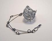 White Basket Necklace