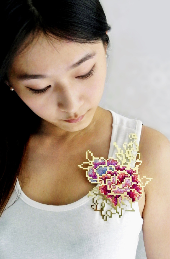 Floral Embroidery- Pixel 3.7 (on model)