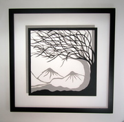 Trees of Life--Handcut Silhouette paper cut.