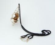 Caged Peanut Necklace