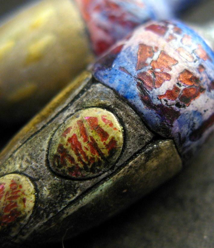 Crackled pods closeup