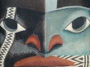 "Detail of ""Raven Paint"" micro-mosaic"