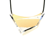 Geometric Bib Necklace - Layered Acrylic