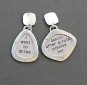 magnetic poetry earrings