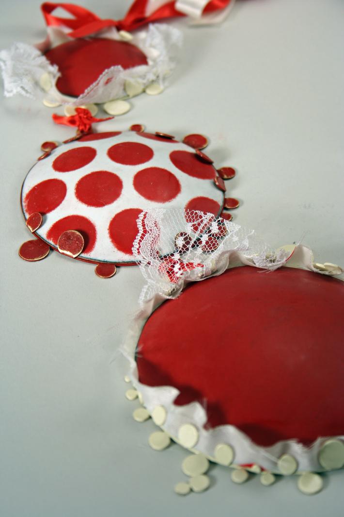 Red Polka Dot Dress (Detail)