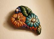 Floral Heart Pendant/Brooch