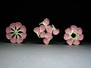 carnation resin brooches