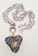 """My Heart's Golden Secret Gives Me Hope"" necklace"