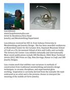 Lisa Johnson Artist-In-Residence/ Area Head for Jewelry and Metalsmithing