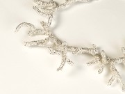 Silver Beaded Branches Necklace2