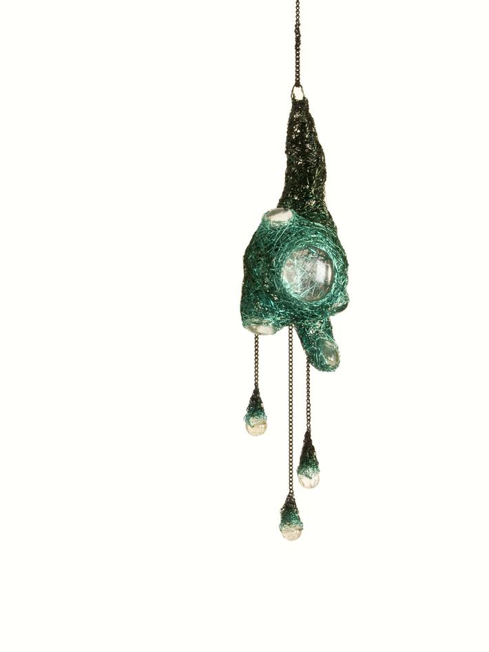 Green Hanging Sculpture