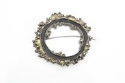 Entropy Brooch Black & Gold
