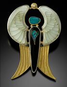 """Golden Angel"" pin/pendant"