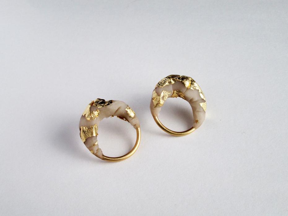 Gilded Ivory Earrings