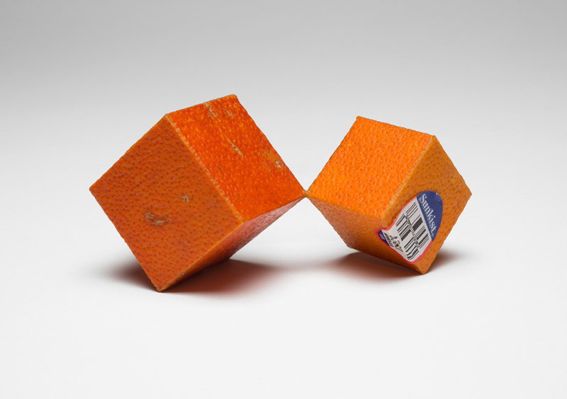 cubic tangelo brooch
