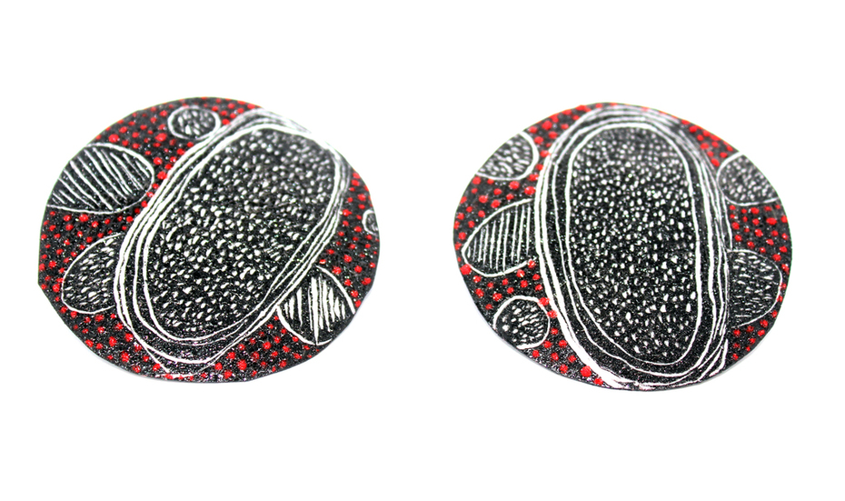Sgraffito Earrings 2015
