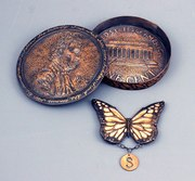 Penny Box open with brooch