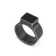 Onyx Illusion Ring