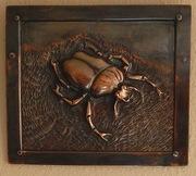 Repoussé Goliath beetle