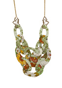 Orange and Green Wallflower Necklace