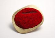 Red Landscape Brooch