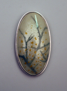 silver gold winter branches brooch