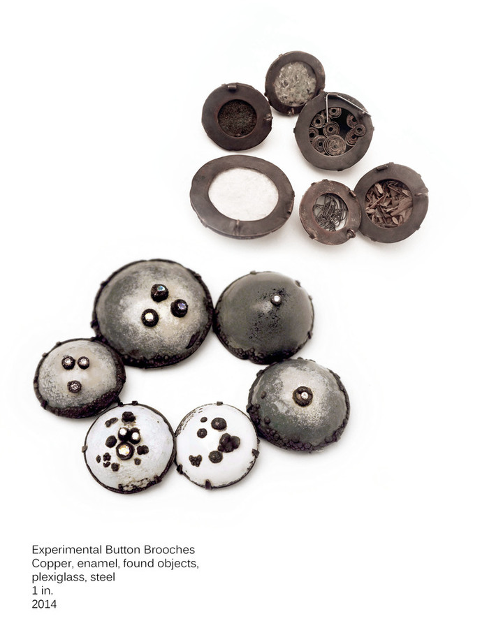 Experimental Button Brooches, 2014