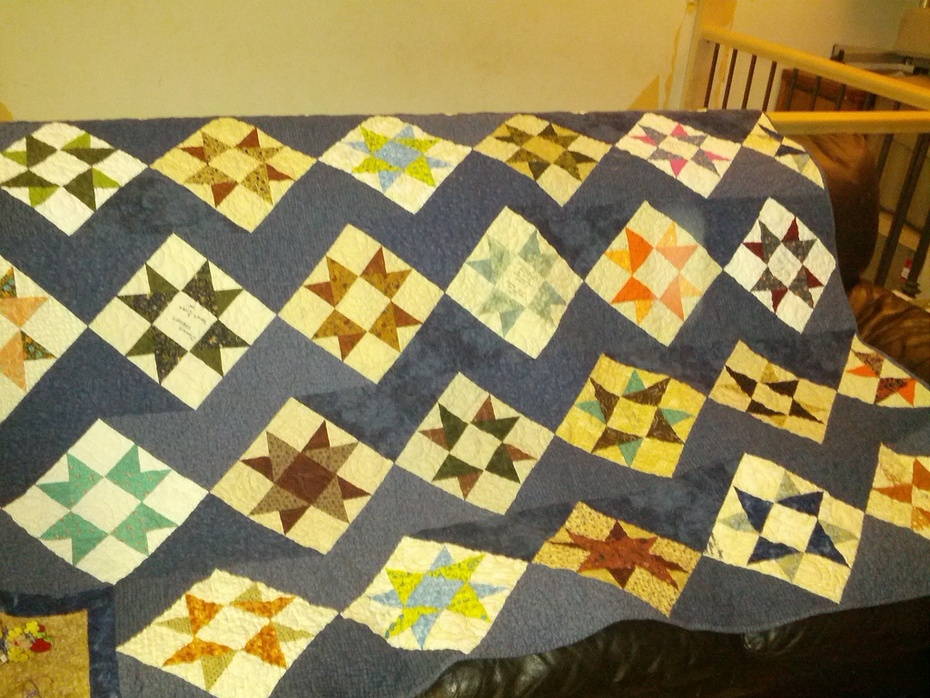 Shannon's quilt - made by the Quilting Canadians