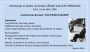 Homenaje a CESAR VALLEJO, poeta universal