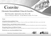 Seminario de Sustentabilidade Urbana em Guarulhos