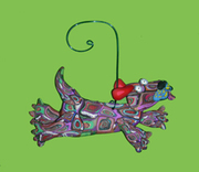 Leaping Dog Ornament