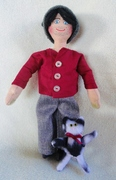 Guy Doll With Kitty Doll