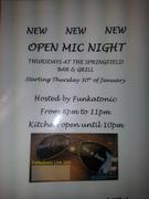 Open Mic Night Every Thursday