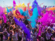Run or Dye 5k event at Trent Park