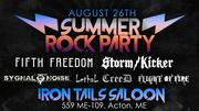 Summer Rock Party, and Storm Kicker CD Release Party