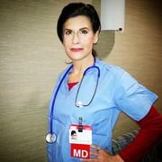 Lynn Julian, Boston Actress, as a Doctor in a Boston Medical Center Commercial