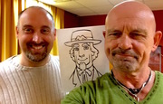 White Rider Session at Perfection Studio,  executive producer, writer and animator Matt Ducharme and me.