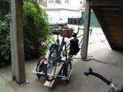 Newly finished bike hauling mod to my Burley.